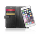 XtremeMac X-Wallet Leather Case With Sim Card Slots for iPhone 6/6S 黑色